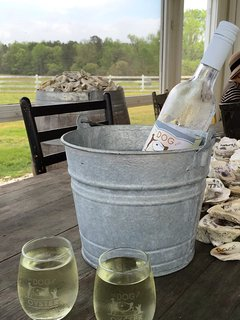 Stroll up the street to the Dog and Oyster Vineyard for their award-winning wine and lovely views!