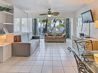 Modern, waterfront condo near the beach w/ view, pool, & other resort amenities