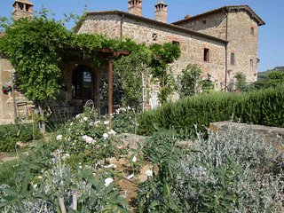 I Gigli, portion of a Tuscan farmhouse in the Chianti hills with 2 bedrooms!