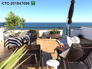 Lovely Rooftop Apartment Near Beach, Great Sea Views. Airport Train Only 20 Mins