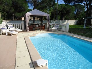 Recently new semi detached gite with shared pool.