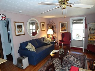 Beautiful Victorian Cabin with Porch overlooking the Property. Pet Friendly