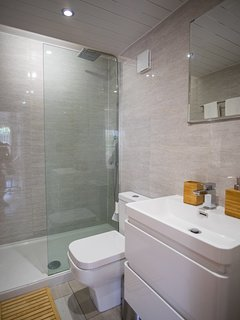 Bathroom with mirror.