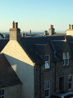 Over the rooftops to the Moray Firth