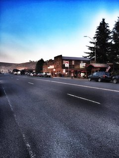 The town of Dubois is 1 mile away. An easy bike ride or walk into town to shops and restaurants.