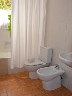Bathroom 2 with tub/shower is very convenient to bedrooms 2 & 3