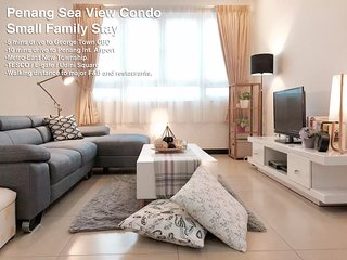 Penang Sea View Condo for Small Family (5 Pax), Georgetown