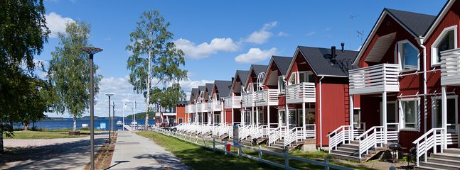 New Marina Villages are nice houses located next to lake of Saimaa. Close to all services.