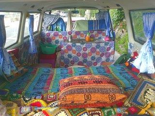 Hippy Van in Italian Riviera