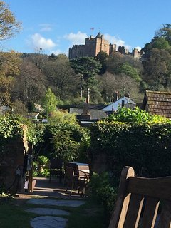 View from the top of Dunster High Street (Luttrell Arms End)