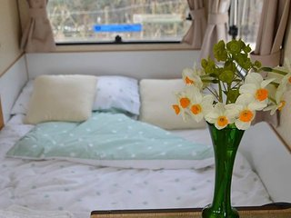 Caravan in rural Sussex. A Getaway, Burwash