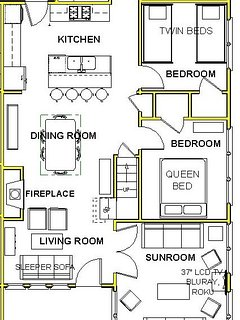 Cottage B 1st Floor Plan