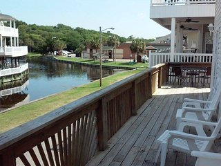 Lake view from wrap around deck