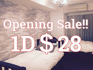 Walk to Namba Area, cozy room Opening SALE!! CK305, Osaka