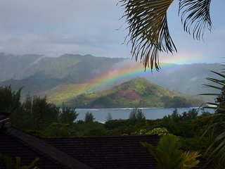 Mountain and Hanalei Bay views!