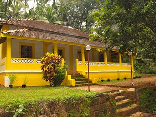 3 Bedroom Goan Portuguese Villa near Galgibag & Polem beaches