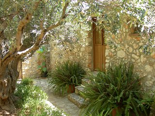 Ancient stone villa beset by a beautiful garden, Scopello