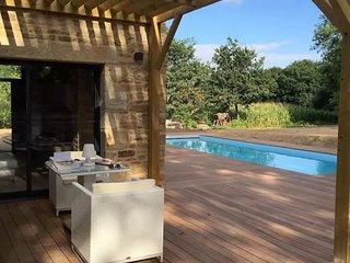 Ancien pressoir proche carnac golf piscine chauff, Ploemel