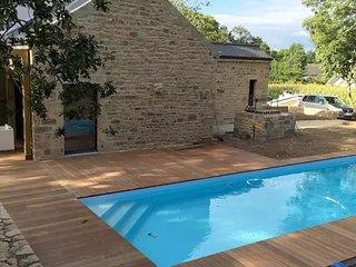 Ancien pressoir proche carnac golf piscine chauff