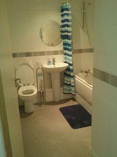 Separate family bathroom.