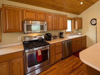 Large open  kitchen features SS appliances, ice maker and a great spot to congregate