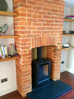 Although there is underfloor heating, the wood-burner is the main source of heat