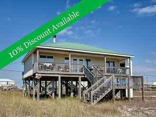 Just Chillin' | 10% Discount Available | TVs in Every Room | Pet-Friendly!, Dauphin Island