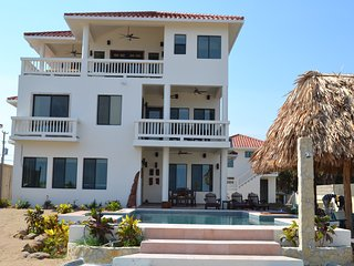 New 5 Bedroom Private Beach Front 3 Story Custom Home with Pool
