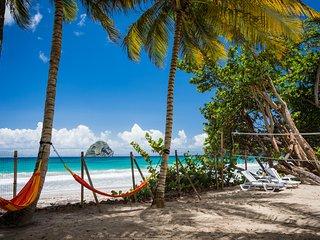 Villa 2 chambres sur la plage du Diamant