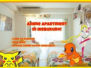Anime Apartment in Ikebukuro! Free WiFi, 2ppl!, Toshima