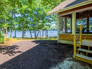 Private waterfront home w/ large deck and deep water dock!