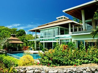 Stunning sea views, luxury 6B villa 100m to beach, Cape Panwa