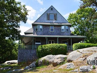 Classic Victorian home with views of the ocean and the twin light houses., Rockport