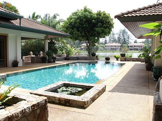 Stunning views luxury 4 bedroom villa at the gated estate in Bang Tao beach.