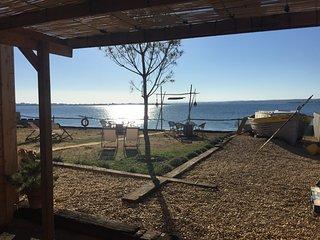 Maison esprit Cabane Chic bord de mer Plage privée, Balaruc-les-Bains