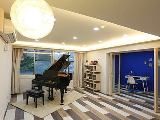 ♪ Taipei Music Guest House 4BD Spacious Gem ♪, Taipéi