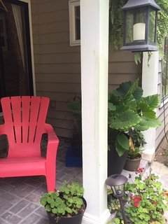 Comfortable front porch