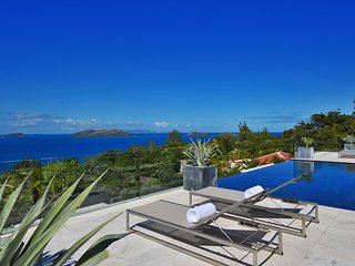 Panoramic Ocean View Designer Luxury Villa with Pool in St Barts, Pointe Milou