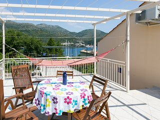 Guest House Zaton - One-Bedroom Apartment with Terrace and Sea View