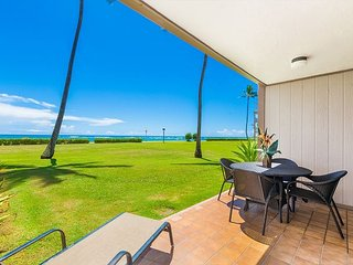 Pono Kai Unit C-101, Oceanfront, Ground Floor, End Unit, Steps from the Beach, Kapaa