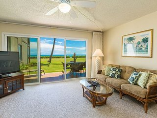 Spacious Living Area with Oceanfront Views!