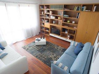 Salotto con divano letto matrimoniale, divano, SAT/TV, CD Player, aria condizionata e balcone