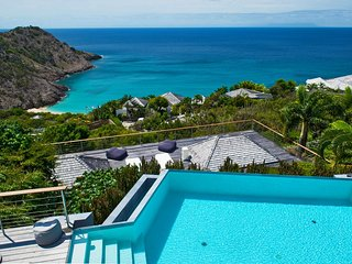 Luxury Hilltop Villa in St Barts with Pool and Endless Ocean Views, Gouverneur