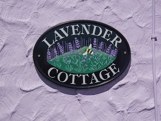 Yes lavender is the theme! ... with lavender paintwork and lavender growing in the front garden.
