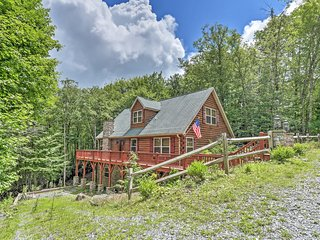 5BR Beech Mountain Log Cabin w/Private Patio!