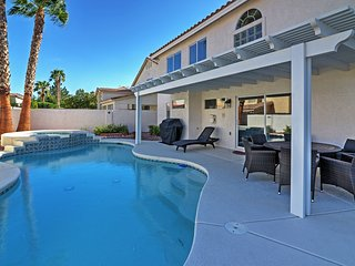 5BR Las Vegas House w/Private Heated Pool!