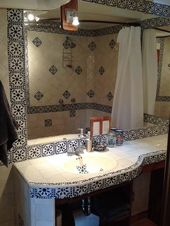 Bathroom with traditional Mexican Tiles