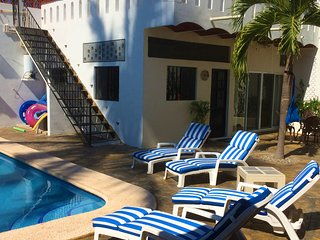 100 steps to the beach in authentic Mexico; pool; (Casa de la Alegria 2B/1B)
