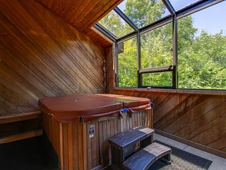 Spacious ski house with a private hot tub, game room, and a great location!, Dover