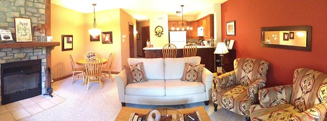 A panoramic view of our condo